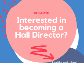 Interested in becoming a hall director?