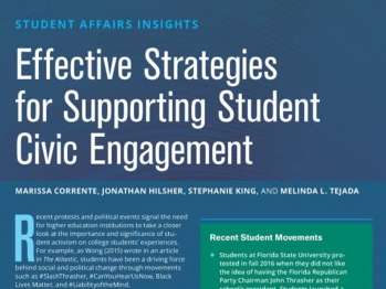 Effective Strategies for Supporting Student Civic Engagement